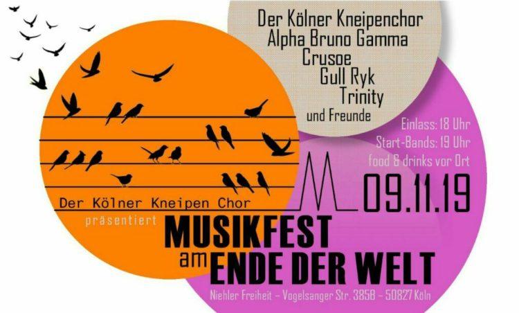 Alpha Bruno Gamma Rea Genz Musikfest am Ende der Welt Koeln 9.11.19