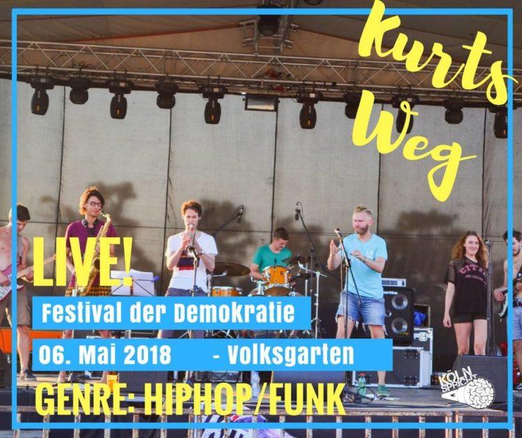 Kurts Weg Koeln Spricht 5.6.18 Volksgarten Festival der Demokratie